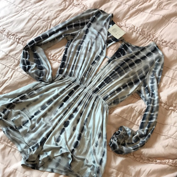 Audrey 3+1 Other | Nwt Neutral Tie Dye Romper | Poshmark